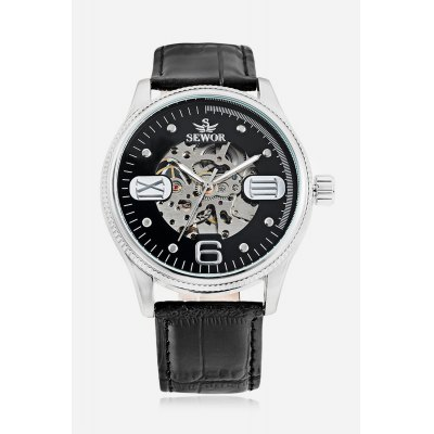 Men Auto Mechanical Watch 44mm WristwatchMens Watches<br>Men Auto Mechanical Watch 44mm Wristwatch<br><br>Band material: PU Leather<br>Band size: 26 x 2cm<br>Case material: Stainless Steel<br>Clasp type: Pin buckle<br>Dial size: 4.4 x 4.4 x 1.1cm<br>Display type: Analog<br>Movement type: Automatic mechanical watch<br>Package Contents: 1 x Watch<br>Package size (L x W x H): 27.00 x 5.00 x 2.00 cm / 10.63 x 1.97 x 0.79 inches<br>Package weight: 0.0900 kg<br>Product size (L x W x H): 26.00 x 4.40 x 1.10 cm / 10.24 x 1.73 x 0.43 inches<br>Product weight: 0.0680 kg<br>Shape of the dial: Round<br>Watch style: Hollow-out<br>Watches categories: Men<br>Water resistance : Life water resistant<br>Wearable length: 19.5 - 24cm