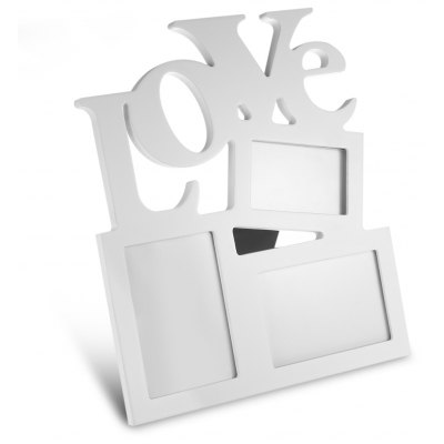 LOVE Wooden Collage Photo Picture Frame
