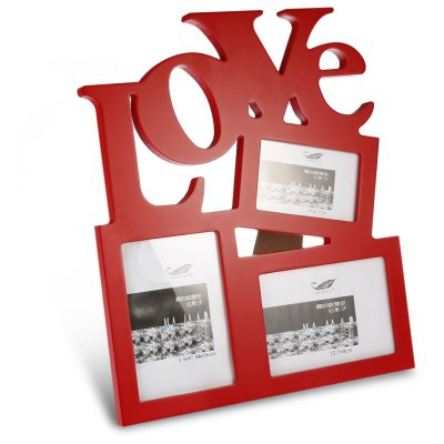 LOVE Design Wooden Picture Photo Frame Valentines Day Gift
