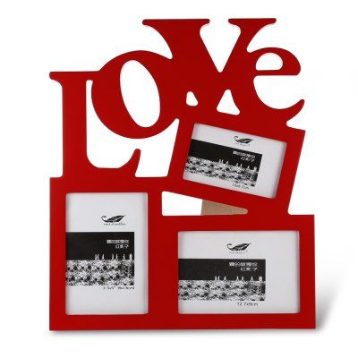 LOVE Wooden Collage Photo Picture FramePhoto Album &amp; Frames<br>LOVE Wooden Collage Photo Picture Frame<br><br>Package Contents: 1 x Photo Frame<br>Package size (L x W x H): 31.00 x 27.00 x 2.00 cm / 12.2 x 10.63 x 0.79 inches<br>Package weight: 0.5470 kg<br>Product size (L x W x H): 29.60 x 25.30 x 1.20 cm / 11.65 x 9.96 x 0.47 inches<br>Product weight: 0.4270 kg