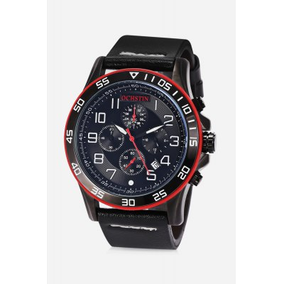 Male Chronograph Quartz WatchMens Watches<br>Male Chronograph Quartz Watch<br><br>Band material: Genuine Leather<br>Band size: 25.000 x 2.200cm, 25.000 x 2.200cm<br>Case material: Alloy<br>Clasp type: Pin buckle<br>Dial size: 4.500 x 4.500 x 1.000cm, 4.500 x 4.500 x 1.000cm<br>Display type: Digital<br>Movement type: Quartz watch<br>Package Contents: 1 x Quartz Watch, 1 x Watch Box,  1 x Quartz Watch, 1 x Watch Box<br>Package size (L x W x H): 15.50 x 7.80 x 4.50 cm / 6.1 x 3.07 x 1.77 inches, 15.50 x 7.80 x 4.50 cm / 6.1 x 3.07 x 1.77 inches<br>Package weight: 0.1640 kg, 0.1640 kg<br>Product size (L x W x H): 25.00 x 4.50 x 1.00 cm / 9.84 x 1.77 x 0.39 inches, 25.00 x 4.50 x 1.00 cm / 9.84 x 1.77 x 0.39 inches<br>Product weight: 0.0780 kg, 0.0780 kg<br>Shape of the dial: Round<br>Special features: Working sub-dial, Stopwatch, Luminous, Date, Working sub-dial<br>Watch mirror: Mineral glass<br>Watch style: Business, Casual, Fashion<br>Watches categories: Male table,Men<br>Water resistance : 30 meters, 30 meters<br>Wearable length: 18.50 - 22.70cm, 18.50 - 22.70cm