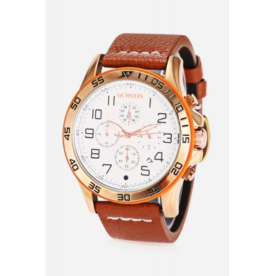Male Chronograph Quartz WatchMens Watches<br>Male Chronograph Quartz Watch<br><br>Band material: Genuine Leather<br>Band size: 25.000 x 2.200cm<br>Case material: Alloy<br>Clasp type: Pin buckle<br>Dial size: 4.500 x 4.500 x 1.000cm<br>Display type: Digital<br>Movement type: Quartz watch<br>Package Contents: 1 x Quartz Watch, 1 x Watch Box<br>Package size (L x W x H): 15.50 x 7.80 x 4.50 cm / 6.1 x 3.07 x 1.77 inches<br>Package weight: 0.1640 kg<br>Product size (L x W x H): 25.00 x 4.50 x 1.00 cm / 9.84 x 1.77 x 0.39 inches<br>Product weight: 0.0780 kg<br>Shape of the dial: Round<br>Special features: Working sub-dial, Stopwatch, Luminous, Date<br>Watch mirror: Mineral glass<br>Watch style: Fashion, Casual, Business<br>Watches categories: Male table,Men<br>Water resistance : 30 meters<br>Wearable length: 18.50 - 22.70cm