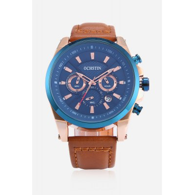 Genuine Leather Strap Men Quartz WatchMens Watches<br>Genuine Leather Strap Men Quartz Watch<br><br>Band material: Genuine Leather<br>Band size: 26.5 x 2cm<br>Case material: Stainless Steel<br>Clasp type: Pin buckle<br>Dial size: 4.2 x 4.2 x 1.3cm<br>Display type: Analog<br>Movement type: Quartz watch<br>Package Contents: 1 x Watch, 1 x Box<br>Package size (L x W x H): 16.00 x 8.00 x 5.00 cm / 6.3 x 3.15 x 1.97 inches<br>Package weight: 0.1800 kg<br>Product size (L x W x H): 26.50 x 4.20 x 1.30 cm / 10.43 x 1.65 x 0.51 inches<br>Product weight: 0.0850 kg<br>Shape of the dial: Round<br>Special features: Working sub-dial, Date<br>Watch style: Fashion<br>Watches categories: Men<br>Water resistance : Life water resistant<br>Wearable length: 20 - 24cm