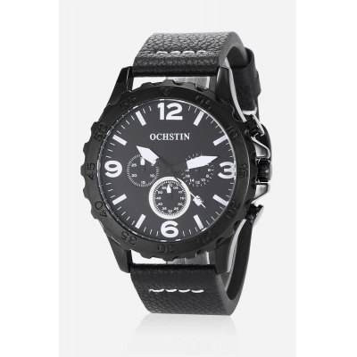 Cool Sub-dials Male Quartz WatchMens Watches<br>Cool Sub-dials Male Quartz Watch<br><br>Band material: Genuine Leather<br>Band size: 26.300 x 2.200cm<br>Case material: Alloy<br>Clasp type: Pin buckle<br>Dial size: 4.500 x 4.500 x 1.100cm<br>Display type: Analog-Digital<br>Movement type: Quartz watch<br>Package Contents: 1 x Male Quartz Watch, 1 x Watch Box<br>Package size (L x W x H): 15.50 x 7.80 x 4.50 cm / 6.1 x 3.07 x 1.77 inches<br>Package weight: 0.1800 kg<br>Product size (L x W x H): 26.30 x 4.50 x 1.10 cm / 10.35 x 1.77 x 0.43 inches<br>Product weight: 0.0900 kg<br>Shape of the dial: Round<br>Special features: Working sub-dial, Stopwatch, Date<br>Watch mirror: Mineral glass<br>Watch style: Cool, Casual, Business<br>Watches categories: Male table,Men<br>Water resistance : 30 meters<br>Wearable length: 19.50 - 23.70cm