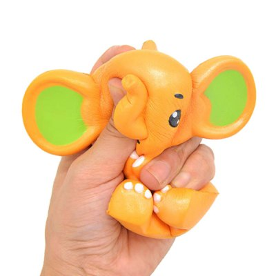 Cartoon Baby Elephant PU Foam Squishy ToySquishy toys<br>Cartoon Baby Elephant PU Foam Squishy Toy<br><br>Color: Orange<br>Materials: PU<br>Package Content: 1 x Squishy Toy<br>Package Dimension: 14.00 x 11.00 x 12.00 cm / 5.51 x 4.33 x 4.72 inches<br>Package Weights: 95g<br>Pattern Type: Animal<br>Product Dimension: 12.50 x 8.50 x 10.50 cm / 4.92 x 3.35 x 4.13 inches<br>Product Weights: 69g<br>Products Type: Squishy Toy<br>Use: Home Decoration, Art &amp; Collectible