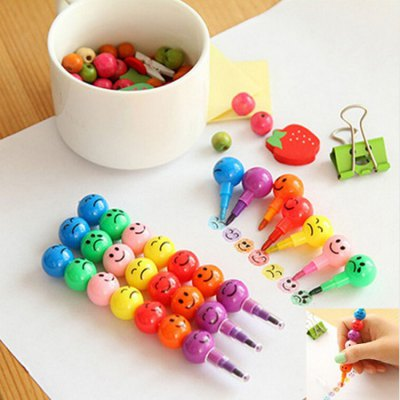 7 Colors Creative Crayons Stationery