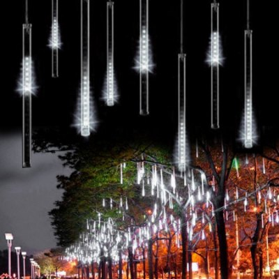 10PCS 0.3m Meteor Shower Rain LED Lights Tube Snowfall String Fairy Lighting