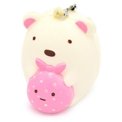 Mini Cute Cartoon Bear PU Foam Squishy Toy