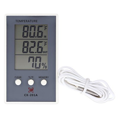 CX - 201A LCD Digital Thermometer Hygrometer