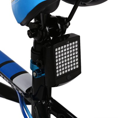 64 LEDs Bike Tail Turn Light with Wireless Remote ControlBike Lights<br>64 LEDs Bike Tail Turn Light with Wireless Remote Control<br><br>Color: Black<br>Features: Superbright, Easy to Install<br>Material: ABS<br>Package Contents: 1 x Bike Tail Turn Light, 1 x Remote Control, 2 x Bracket, 1 x CR2032 Battery, 2 x Belt<br>Package Dimension: 21.00 x 13.00 x 5.00 cm / 8.27 x 5.12 x 1.97 inches<br>Package weight: 0.1650 kg<br>Product Dimension: 7.20 x 6.00 x 2.20 cm / 2.83 x 2.36 x 0.87 inches<br>Product weight: 0.0530 kg<br>Suitable for: Touring Bicycle, Road Bike, Mountain Bicycle, Fixed Gear Bicycle<br>Type: Tail Light
