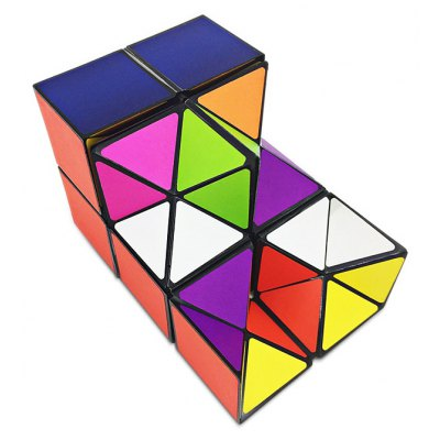 2-in-1 Transformable ABS Magic Cube Fidget Toy