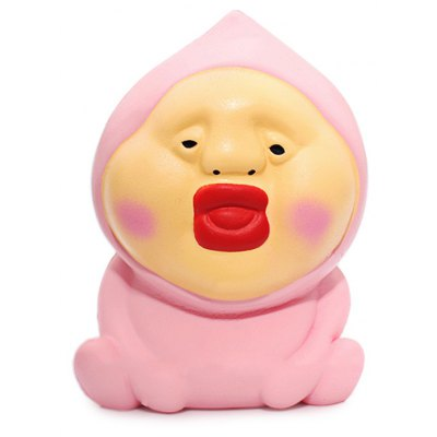 Cartoon Peach Butt Man Soft PU Foam Squishy Toy