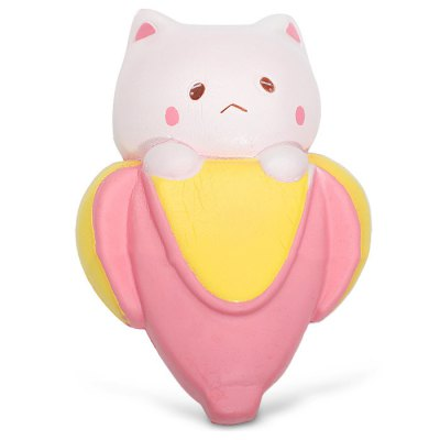 Cute Cartoon Banana Cat PU Foam Squishy Toy