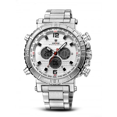 WEIDE WH6305 2-movt LCD Men Fashion Watch