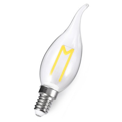 E14 3W 300LM Retro LED Filament LampCandle Bulbs<br>E14 3W 300LM Retro LED Filament Lamp<br><br>Angle: 360 degree<br>Available Light Color: Warm White<br>Certifications: CE,FCC,RoHs<br>Features: Low Power Consumption, Long Life Expectancy, Energy Saving<br>Function: Home Lighting, Studio and Exhibition Lighting<br>Holder: E14<br>Lifespan: 25000h<br>Luminous Flux: 300lm<br>Output Power: 3W<br>Package Contents: 1 x Bulb<br>Package size (L x W x H): 3.60 x 3.60 x 13.00 cm / 1.42 x 1.42 x 5.12 inches<br>Package weight: 0.0550 kg<br>Product size (L x W x H): 2.60 x 2.60 x 12.00 cm / 1.02 x 1.02 x 4.72 inches<br>Product weight: 0.0300 kg<br>Sheathing Material: Glass<br>Type: Ball Bulbs<br>Voltage (V): AC 180-265V