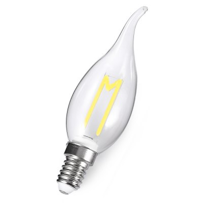 E14 3W 300LM Retro LED Filament LampCandle Bulbs<br>E14 3W 300LM Retro LED Filament Lamp<br><br>Angle: 360 degree<br>Available Light Color: Cool White<br>Certifications: CE,FCC,RoHs<br>Features: Low Power Consumption, Long Life Expectancy, Energy Saving<br>Function: Home Lighting, Studio and Exhibition Lighting<br>Holder: E14<br>Lifespan: 25000h<br>Luminous Flux: 300lm<br>Output Power: 3W<br>Package Contents: 1 x Bulb<br>Package size (L x W x H): 3.60 x 3.60 x 13.00 cm / 1.42 x 1.42 x 5.12 inches<br>Package weight: 0.0550 kg<br>Product size (L x W x H): 2.60 x 2.60 x 12.00 cm / 1.02 x 1.02 x 4.72 inches<br>Product weight: 0.0300 kg<br>Sheathing Material: Glass<br>Type: Ball Bulbs<br>Voltage (V): AC 180-265V