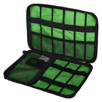 Portable Polyester Electronic Accessories Storage Bag Pouch