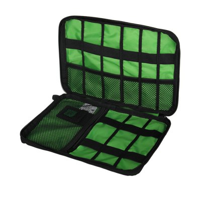 Portable Polyester Electronic Accessories Storage Bag PouchOther Sports Gadgets<br>Portable Polyester Electronic Accessories Storage Bag Pouch<br><br>Package Contents: 1 x Electronic Accessories Storage Bag<br>Package size (L x W x H): 24.00 x 17.00 x 4.00 cm / 9.45 x 6.69 x 1.57 inches<br>Package weight: 0.1250 kg<br>Product size (L x W x H): 23.00 x 16.00 x 3.50 cm / 9.06 x 6.3 x 1.38 inches<br>Product weight: 0.0900 kg