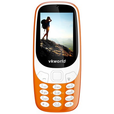 Vkworld Z3310 Quad Band Unlocked PhoneCell phones<br>Vkworld Z3310 Quad Band Unlocked Phone<br><br>Additional Features: FM, Bluetooth, MP3, People<br>Back-camera: 2.0MP<br>Battery: 1 x 1450mAh<br>Bluetooth: Yes<br>Brand: VKWORLD<br>Camera type: Single camera<br>Cell Phone: 1<br>Charger: 1<br>English Manual : 1<br>External Memory: TF card up to 8GB (not included)<br>Frequency: GSM 850/900/1800/1900MHz<br>Languages: English, Arabic, Spanish, Hungarian, Turkish<br>Music format: MP3<br>Network type: GSM<br>Package size: 13.50 x 7.50 x 6.00 cm / 5.31 x 2.95 x 2.36 inches<br>Package weight: 0.2300 kg<br>Picture format: JPEG<br>Product size: 12.60 x 5.50 x 1.55 cm / 4.96 x 2.17 x 0.61 inches<br>Product weight: 0.1020 kg<br>Screen size: 2.4 inch<br>SIM Card Slot: Dual SIM, Dual Standby<br>TF card slot: Yes<br>Type: Bar Phone<br>Video format: MP4
