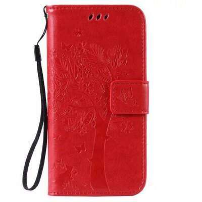 Tree Embossing Wallet Stand Case