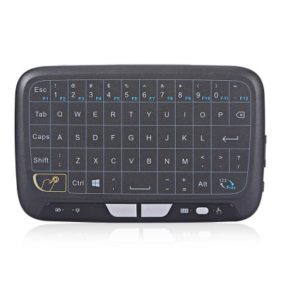 H18 2.4G Wireless Touch Screen Air Mouse Remote ControlAir Mouse<br>H18 2.4G Wireless Touch Screen Air Mouse Remote Control<br><br>Battery Capacity (mAh): 300mAh<br>Charging Time: 2 hours<br>Connection Type: 2.4GHz Wireless<br>Interface: Micro USB<br>Model: H18<br>Package size: 17.00 x 10.00 x 2.50 cm / 6.69 x 3.94 x 0.98 inches<br>Package weight: 0.2200 kg<br>Packing List: 1 x H18 Air Mouse, 1 x English Manual<br>Powered by: Lithium Battery<br>Product Features: Air Mouse, Ergonomic, Gaming, Remote Controller<br>Product size: 14.00 x 9.00 x 1.00 cm / 5.51 x 3.54 x 0.39 inches<br>Product weight: 0.1000 kg<br>Suitable for: Andriod TV Box, XBOX360, PS3, PC, Pad, iPod touch, HTPC, Google TV Box, Android TV, iPhone