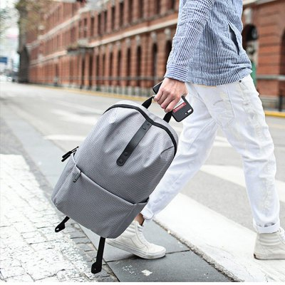 Xiaomi 20L Leisure BackpackBackpacks<br>Xiaomi 20L Leisure Backpack<br><br>Bag Capacity: 20L<br>Brand: Xiaomi<br>Capacity: 11 - 20L<br>Features: Water Resistance, Ultra Light, Laptop Bag<br>For: Traveling, Casual, Cycling, Other, Sports<br>Gender: Unisex<br>Material: Polyester<br>Package Contents: 1 x Xiaomi Backpack<br>Package size (L x W x H): 32.00 x 6.00 x 44.00 cm / 12.6 x 2.36 x 17.32 inches<br>Package weight: 0.5200 kg<br>Product size (L x W x H): 31.00 x 14.00 x 43.00 cm / 12.2 x 5.51 x 16.93 inches<br>Product weight: 0.4200 kg<br>Strap Length: 45 - 80cm<br>Style: Fashion<br>Type: Backpack