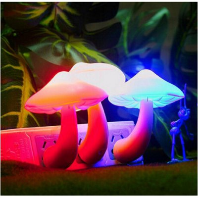 LED 220V Light Control Mushroom Night LampNovelty lighting<br>LED 220V Light Control Mushroom Night Lamp<br><br>Lifespan: 100000hrs<br>Material: ABS<br>Package Contents: 1 x Mushroom Night Light<br>Package size (L x W x H): 8.00 x 7.00 x 11.00 cm / 3.15 x 2.76 x 4.33 inches<br>Package weight: 0.0685 kg<br>Product weight: 0.0480 kg<br>Suitable for: Holiday Decoration, Home Decoration, Exhibition, Party