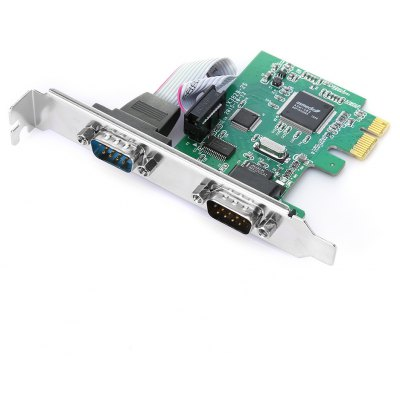 PCI - Express DB9 RS232 2-Port Controller Adapter Card