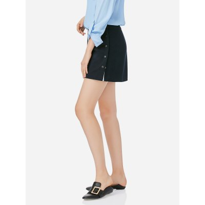 ZANSTYLE Women A Line Navy Blue Short SkirtSkirts<br>ZANSTYLE Women A Line Navy Blue Short Skirt<br>