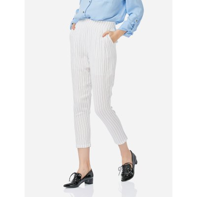 ZANSTYLE Female Pleated White PantsPants<br>ZANSTYLE Female Pleated White Pants<br>