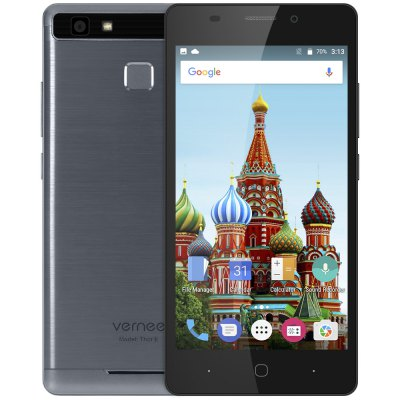 Vernee Thor E 4G SmartphoneCell phones<br>Vernee Thor E 4G Smartphone<br><br>2G: GSM 850/900/1800/1900MHz<br>3G: WCDMA 900/2100MHz<br>4G: FDD-LTE 800/1800/2100/2600MHz<br>Additional Features: Calculator, Calendar, Browser, Bluetooth, Alarm, 4G, 3G, Camera, Fingerprint recognition, Sound Recorder, Fingerprint Unlocking, GPS, MP3, MP4, People, Wi-Fi<br>Auto Focus: Yes<br>Back-camera: 8.0MP ( SW 13.0MP ) with flash light and AF<br>Battery Capacity (mAh): 5020mAh (typ)<br>Battery Type: Non-removable<br>Bluetooth Version: V4.0<br>Brand: Vernee<br>Camera type: Dual cameras (one front one back)<br>Cell Phone: 1<br>Cores: Octa Core, 1.3GHz<br>CPU: MTK6753 64bit<br>E-book format: TXT<br>English Manual : 1<br>External Memory: TF card up to 128GB (not included)<br>Flashlight: Yes<br>Front camera: 2.0MP ( SW 5.0MP )<br>Games: Android APK<br>GPU: Mali-T720<br>I/O Interface: Micophone, 3.5mm Audio Out Port, 2 x Nano SIM Slot, TF/Micro SD Card Slot, Speaker, Micro USB Slot<br>Language: Multi language<br>Music format: WAV, FLAC, AAC, MP3<br>Network type: GSM+WCDMA+FDD-LTE<br>OS: Android 7.0<br>Package size: 16.50 x 9.50 x 5.00 cm / 6.5 x 3.74 x 1.97 inches<br>Package weight: 0.3870 kg<br>Power Adapter: 1<br>Product size: 14.40 x 7.10 x 0.89 cm / 5.67 x 2.8 x 0.35 inches<br>Product weight: 0.1670 kg<br>RAM: 3GB RAM<br>ROM: 16GB<br>Screen resolution: 1280 x 720 (HD 720)<br>Screen size: 5.0 inch<br>Screen type: Capacitive<br>Sensor: Ambient Light Sensor,E-Compass,Gravity Sensor,Hall Sensor,Proximity Sensor<br>Service Provider: Unlocked<br>SIM Card Slot: Dual SIM, Dual Standby<br>SIM Card Type: Nano SIM Card<br>SIM Needle: 1<br>Touch Focus: Yes<br>Type: 4G Smartphone<br>USB Cable: 1<br>Video format: H.264, MPEG4, 3GP<br>WIFI: 802.11a/b/g/n wireless internet<br>Wireless Connectivity: 4G, 3G, Bluetooth, Dual Band WiFi, GSM, WiFi, A-GPS