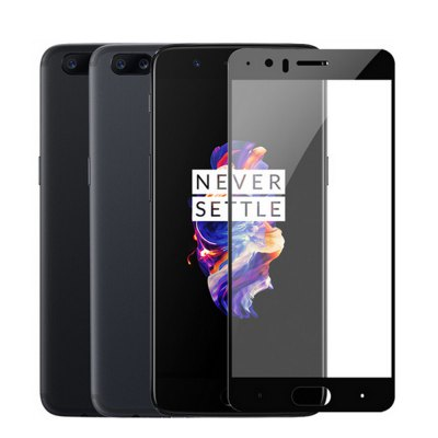Naxtop Full Screen Protective FilmScreen Protectors<br>Naxtop Full Screen Protective Film<br><br>Brand: Naxtop<br>Compatible Model: OnePlus 5<br>Features: Ultra thin, High-definition, High Transparency, High sensitivity, Anti-oil, Anti scratch, Anti fingerprint<br>Material: Tempered Glass<br>Package Contents: 1 x Screen Film, 1 x Wet Wipes, 1 x Dry Wipes, 1 x Dust-absorber<br>Package size (L x W x H): 16.00 x 8.00 x 2.00 cm / 6.3 x 3.15 x 0.79 inches<br>Package weight: 0.1060 kg<br>Product weight: 0.0090 kg<br>Surface Hardness: 9H<br>Thickness: 0.26mm<br>Type: Screen Protector