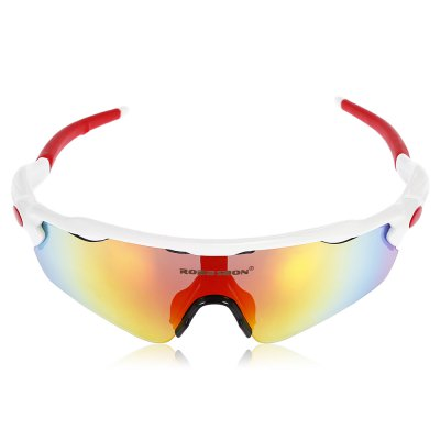 Robesbon 12pcs Sports Cycling Glasses with Polarized TAC LensCycling Sunglasses<br>Robesbon 12pcs Sports Cycling Glasses with Polarized TAC Lens<br><br>Brand: ROBESBON<br>Features: Polarized lens, Removable Legs, Replaceable Lens, UV400, with Myopic Frame<br>Gender: Unisex<br>Package Contents: 1 x Robesbon Cycling Glasses, 4 x Spare PC Lens, 1 x Spare Nose Pad, 1 x Headband, 1 x Lanyard, 1 x Cleaning Cloth, 1 x Myopia Frame, 1 x Storage Bag, 1 x Box, 1 x Polarized Test Card, 1 x English Use<br>Package Size(L x W x H): 20.00 x 13.00 x 8.00 cm / 7.87 x 5.12 x 3.15 inches<br>Package weight: 0.2270 kg<br>Product Size(L x W x H): 16.00 x 17.00 x 5.00 cm / 6.3 x 6.69 x 1.97 inches<br>Product weight: 0.0330 kg<br>Suitable for: Traveling, Cycling, Hiking