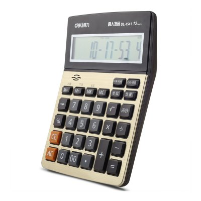 Deli 1542A Talking Calculator 12 Digit Calculating ToolDesk Organizers<br>Deli 1542A Talking Calculator 12 Digit Calculating Tool<br><br>Brand: Deli<br>Features: Calculating<br>Model: 1542A<br>Package Contents: 1 x Deli 1542A Talking Calculator, 2 x AA Battery<br>Package size (L x W x H): 28.50 x 19.00 x 4.00 cm / 11.22 x 7.48 x 1.57 inches<br>Package weight: 0.3500 kg<br>Product size (L x W x H): 21.00 x 16.00 x 3.00 cm / 8.27 x 6.3 x 1.18 inches<br>Product weight: 0.3100 kg