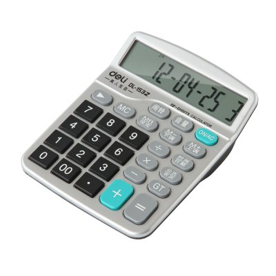 Deli 1532 Talking Calculator 12 Digit Calculating ToolDesk Organizers<br>Deli 1532 Talking Calculator 12 Digit Calculating Tool<br><br>Brand: Deli<br>Features: 12 Digit<br>Model: 1532<br>Package Contents: 1 x Deli 1532 12-digit Talking Calculator, 2 x AA battery<br>Package size (L x W x H): 22.00 x 15.50 x 5.00 cm / 8.66 x 6.1 x 1.97 inches<br>Package weight: 0.3200 kg<br>Product size (L x W x H): 18.50 x 14.50 x 4.00 cm / 7.28 x 5.71 x 1.57 inches<br>Product weight: 0.2800 kg