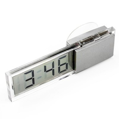 Car LCD Electronic Digital Clock with Suction CupOther Car Gadgets<br>Car LCD Electronic Digital Clock with Suction Cup<br><br>Package Contents: 1 x Car Electronic Digital Clock<br>Package size (L x W x H): 10.50 x 5.00 x 3.00 cm / 4.13 x 1.97 x 1.18 inches<br>Package weight: 0.0600 kg<br>Product size (L x W x H): 9.30 x 3.30 x 2.00 cm / 3.66 x 1.3 x 0.79 inches<br>Product weight: 0.0270 kg