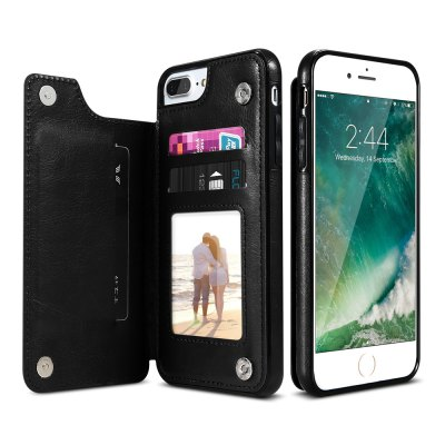 Kickstand Leather Case Phone Cover for iPhone 7 Plus