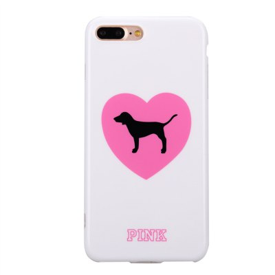 Heart Dog Cartoon Case Protector for iPhone 7 Plus