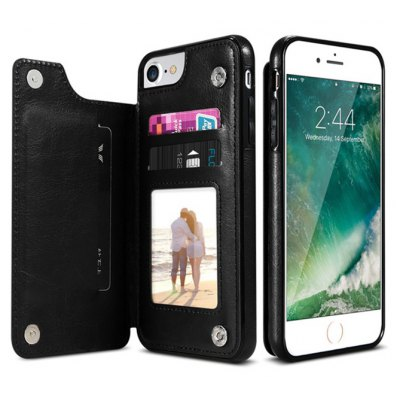 Kickstand Leather Case Phone Protector for iPhone 7