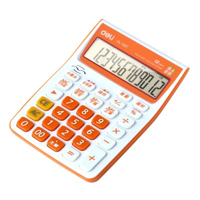 Deli 1527 Talking Calculator 12 Digit Calculating ToolDesk Organizers<br>Deli 1527 Talking Calculator 12 Digit Calculating Tool<br><br>Brand: Deli<br>Features: Talking<br>Model: 1527<br>Package Contents: 1 x Deli 1527 Talking Calculator, 2 x AA Battery<br>Package size (L x W x H): 23.00 x 14.00 x 5.00 cm / 9.06 x 5.51 x 1.97 inches<br>Package weight: 0.2930 kg<br>Product size (L x W x H): 18.50 x 13.00 x 3.00 cm / 7.28 x 5.12 x 1.18 inches<br>Product weight: 0.1940 kg