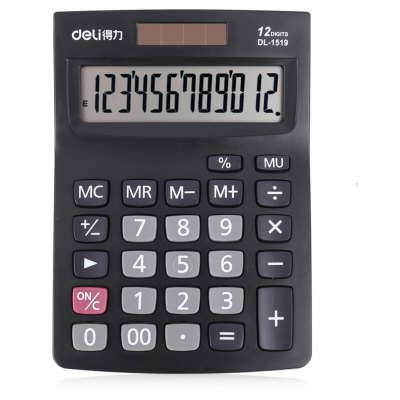 Deli 1519A 12-digit Talking Calculator for Accounting