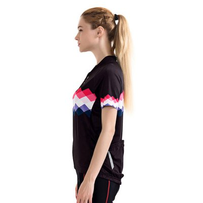 WOSAWE BC258 Short Sleeve Cycling Suits for WomenCycling Clothings<br>WOSAWE BC258 Short Sleeve Cycling Suits for Women<br><br>Brand: WOSAWE<br>Feature: Quick Dry, High elasticity, Breathable<br>For: Cycling<br>Material: Polyester<br>Package Contents: 1 x Cycling Blouse<br>Package size (L x W x H): 29.50 x 19.50 x 1.00 cm / 11.61 x 7.68 x 0.39 inches<br>Package weight: 0.2200 kg<br>Product weight: 0.1950 kg<br>Type: Short Sleeves Cycling Suit