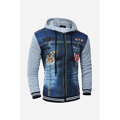 Men Hooded 3D JacketMens Hoodies &amp; Sweatshirts<br>Men Hooded 3D Jacket<br><br>Material: Cotton, Polyester<br>Package Contents: 1 x Jacket<br>Package size: 20.00 x 30.00 x 5.00 cm / 7.87 x 11.81 x 1.97 inches<br>Package weight: 0.3700 kg<br>Product weight: 0.3400 kg
