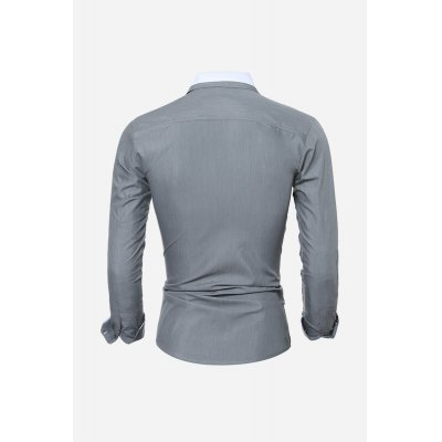 Fitness Shirt for MenMens Shirts<br>Fitness Shirt for Men<br><br>Material: Cotton, Polyester<br>Package Contents: 1 x Shirt<br>Package size: 30.00 x 20.00 x 2.00 cm / 11.81 x 7.87 x 0.79 inches<br>Package weight: 0.2300 kg<br>Product weight: 0.2000 kg