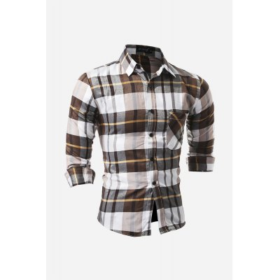 Slim Shirt for MenMens Shirts<br>Slim Shirt for Men<br><br>Material: Cotton, Polyester<br>Package Contents: 1 x Shirt<br>Package size: 30.00 x 20.00 x 2.00 cm / 11.81 x 7.87 x 0.79 inches<br>Package weight: 0.2400 kg<br>Product weight: 0.2000 kg