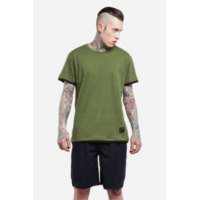 False Two-piece Round Neck 100 Cotton T-shirt for MenMens Short Sleeve Tees<br>False Two-piece Round Neck 100 Cotton T-shirt for Men<br><br>Material: Cotton<br>Neckline: Round Collar<br>Package Content: 1 x T-shirt , 1 x T-shirt<br>Package size: 30.00 x 35.00 x 0.50 cm / 11.81 x 13.78 x 0.2 inches<br>Package weight: 0.2500 kg<br>Pattern Type: Solid<br>Product weight: 0.2000 kg<br>Season: Summer<br>Sleeve Length: Short Sleeves<br>Style: Casual
