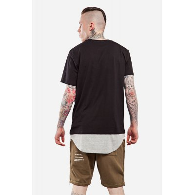 Arc Spliced Bottom Round Neck 100 Cotton T-shirt for MenMens Short Sleeve Tees<br>Arc Spliced Bottom Round Neck 100 Cotton T-shirt for Men<br><br>Material: Cotton<br>Neckline: Round Neck<br>Package Content: 1 x T-shirt<br>Package size: 30.00 x 35.00 x 0.50 cm / 11.81 x 13.78 x 0.2 inches<br>Package weight: 0.2500 kg<br>Pattern Type: Solid<br>Product weight: 0.2000 kg<br>Season: Summer<br>Sleeve Length: Short Sleeves<br>Style: Casual