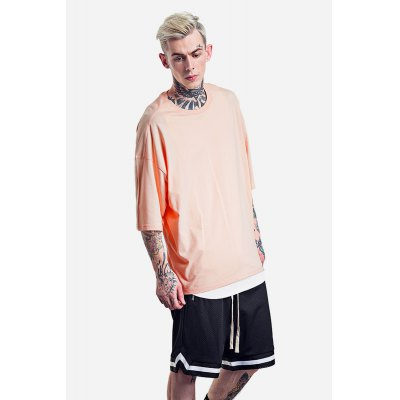 Oversized Round Neck 100 Cotton T-shirt for MenMens Short Sleeve Tees<br>Oversized Round Neck 100 Cotton T-shirt for Men<br><br>Material: Cotton<br>Neckline: Round Collar<br>Package Content: 1 x T-shirt<br>Package size: 30.00 x 35.00 x 0.50 cm / 11.81 x 13.78 x 0.2 inches<br>Package weight: 0.2500 kg<br>Pattern Type: Solid<br>Product weight: 0.2000 kg<br>Season: Summer<br>Sleeve Length: Short Sleeves<br>Style: Casual