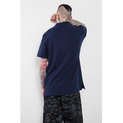 Button Neck 100 Cotton T-shirt for MenMens Short Sleeve Tees<br>Button Neck 100 Cotton T-shirt for Men<br><br>Material: Cotton<br>Neckline: Turn-down Collar<br>Package Content: 1 x T-shirt<br>Package size: 30.00 x 35.00 x 0.50 cm / 11.81 x 13.78 x 0.2 inches<br>Package weight: 0.2500 kg<br>Pattern Type: Solid<br>Product weight: 0.2000 kg<br>Season: Summer<br>Sleeve Length: Short Sleeves<br>Style: Casual