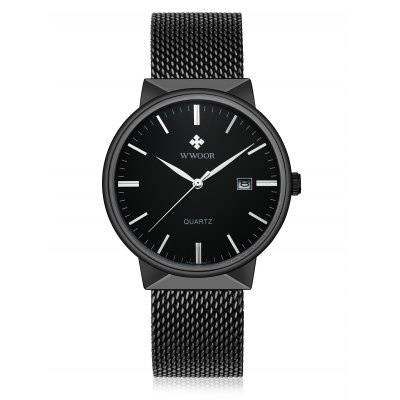 WWOOR 8826M Men Quartz WatchMens Watches<br>WWOOR 8826M Men Quartz Watch<br><br>Band material: Stainless Steel<br>Band size: 22.5 x 2cm<br>Brand: WWOOR<br>Case material: Alloy<br>Clasp type: Hook buckle<br>Dial size: 4.05 x 4.05 x 0.95cm<br>Display type: Analog<br>Movement type: Quartz watch<br>Package Contents: 1 x Watch<br>Package size (L x W x H): 22.50 x 4.05 x 0.95 cm / 8.86 x 1.59 x 0.37 inches<br>Package weight: 0.1200 kg<br>Product size (L x W x H): 22.50 x 4.05 x 0.95 cm / 8.86 x 1.59 x 0.37 inches<br>Product weight: 0.0830 kg<br>Shape of the dial: Round<br>Watch style: Fashion<br>Watches categories: Men<br>Water resistance : Life water resistant